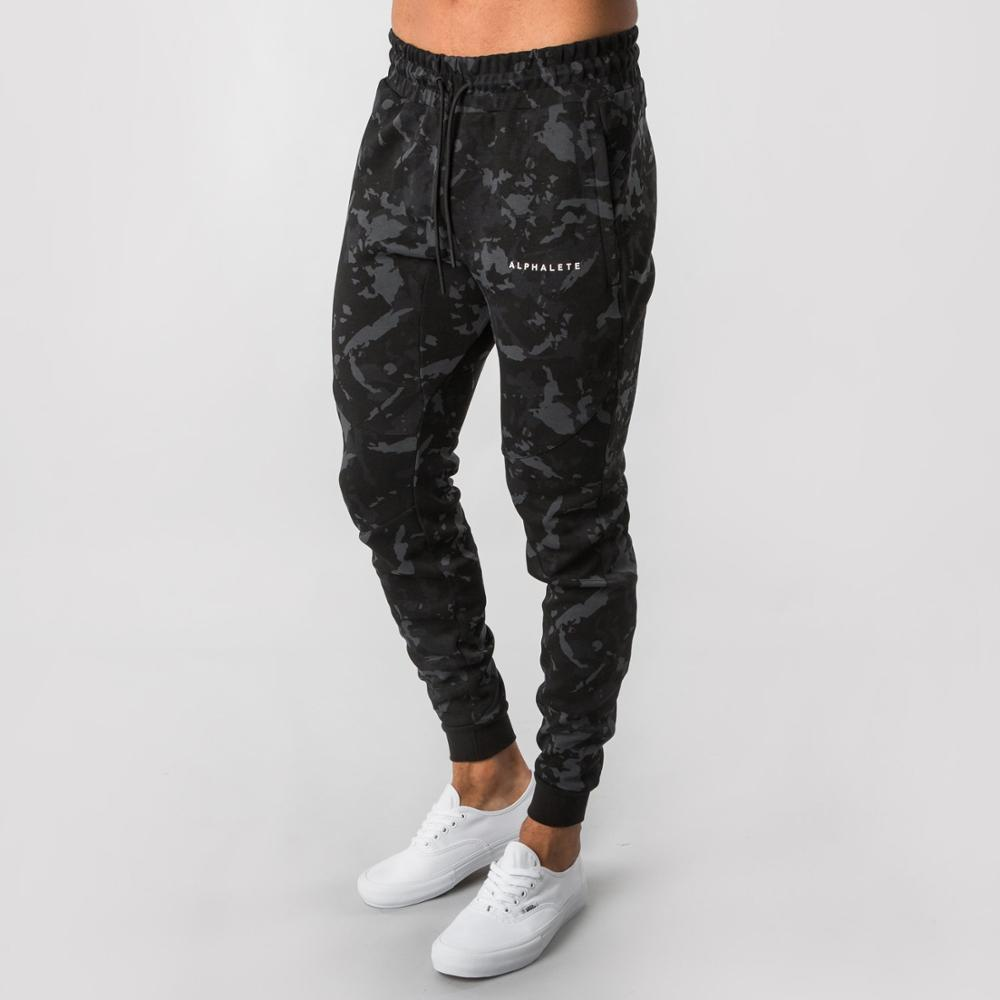 Trousers Male Pencil-Pants Jogger Skinny Fitness Workout ALPHALETE Camouflage Fashion-Brand
