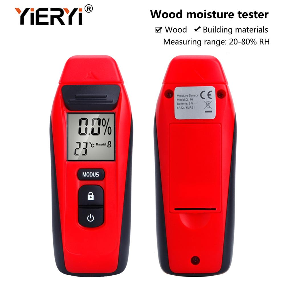 Messung Und Analyse Instrumente Werkzeuge Yieryi G110 Holz Feuchtigkeit Tester Feuchtigkeit Sensor Digital Feuchtigkeit 0.5% Genauigkeit Feuchtigkeit Meter Mess 20-80% Rh Wasser Tester