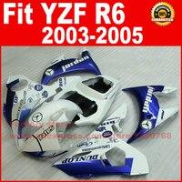 Fit for YAMAHA R6 fairings 2003 2004 2005 Jordan blue white YZF R6 fairing parts 03 04 05 body kits V969