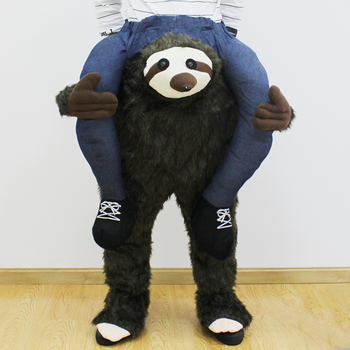 Novelty Sloth Back Funny Piggyback Costume Unisex Pants With Stuff Your Own Legs Oktoberfest Halloween Party Cosplay Clothing sloth blow up costume