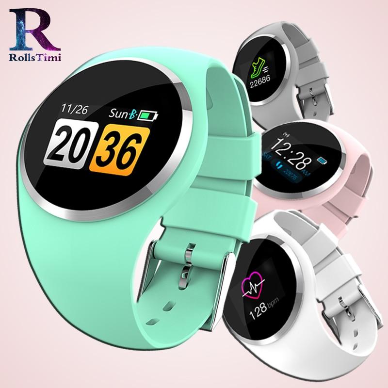 RollsTimi Fashion Women Smart Watch Blood Pressure Heart Rate Monitor Pedometer Fitness Tracker Wristwatch women For