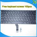 """Nova marca Para MacBook Air 13.3 """"A1369 A1466 RU teclado Russo + 100 pcs parafusos do teclado 2010-2015 anos"""