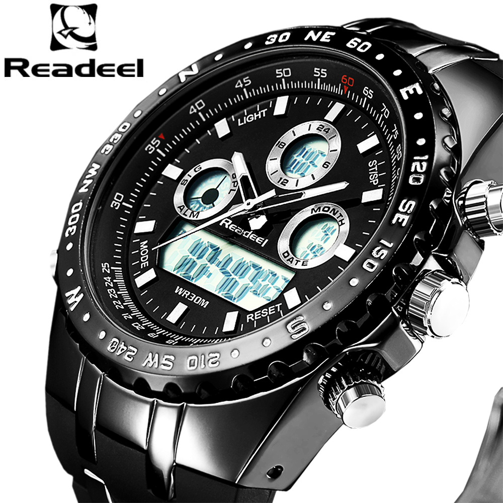 Chronograph Sport LED Digital Quartz Watch Reloj Hombre Male Clock