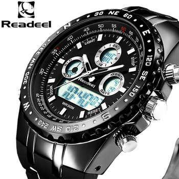 2018 Top Brand Luxury Fashion Chronograph Sport Mens Watches LED Digital Quartz Watch Reloj Hombre Male Clock  relogio Masculino - DISCOUNT ITEM  90% OFF All Category