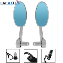 лучшая цена CNC Aluminum Motorcycle Rearview Mirrors Blue Glass Rear View Side Mirror for HONDA KAWASAKI YAMAHA KTM DUCATI SUZUKI BMW