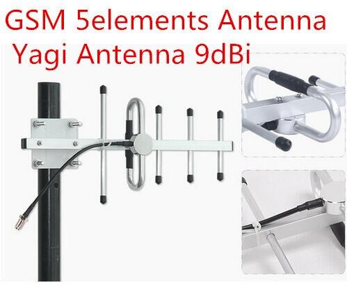 868 MHz GSM antena yagi N hembra 900 M repetidor al aire libre torre 5 elementos yagi antena de la base