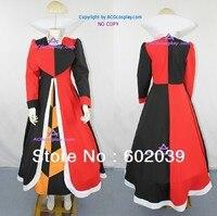Alice en el país de las maravillas de la reina de Cosplay del traje de falda larga incluye enagua