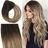 Tape in Hair Extensions Remy Straight Hair Skin Weft Tape Fading to #6 Medium Brown Human Hair ombre hair extension remy
