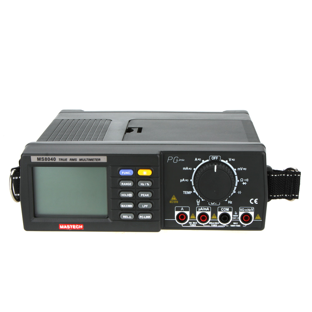 MASTECH MS8040 22000 Counts AC DC Voltage Current Auto range Bench multimeter True RMS filtering RS 232 Interface tester