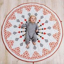 2018 New Moroccan Geometry Baby Game Pad Cotton Baby Crawling Blanket Children Blanket Carpet Children's Room Decoration 90*90cm недорого