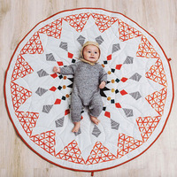 2018 New Moroccan Geometry Baby Game Pad Cotton Baby Crawling Blanket Children Blanket Carpet Children's Room Decoration 90*90cm