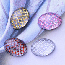 4 Colors Plaid Net 3D Nail Sticker Pink Coffee Gold Silver 1 Sheet Manicure Nail Decoration Water Sticker Nail Accessories