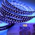 1 м 2 м 5 м УФ светодиодная лента светильник 395-405nm Ультрафиолетовый 3528 SMD 60 светодиодов/m 120led/m гибкая Рождественский гирлянды светодиодные лам...