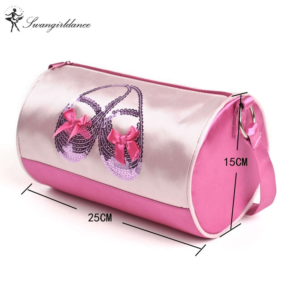 Ballet Pink dance bags ballet shoes printing Children inclined shoulder  dance bag waterproof embroidery ballet bag Girls AS8608 cfe1eab9705e