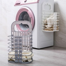 Foldable Laundry Basket Dirty Clothes Storage Washing Bag Hamper Home Organizer for Toys