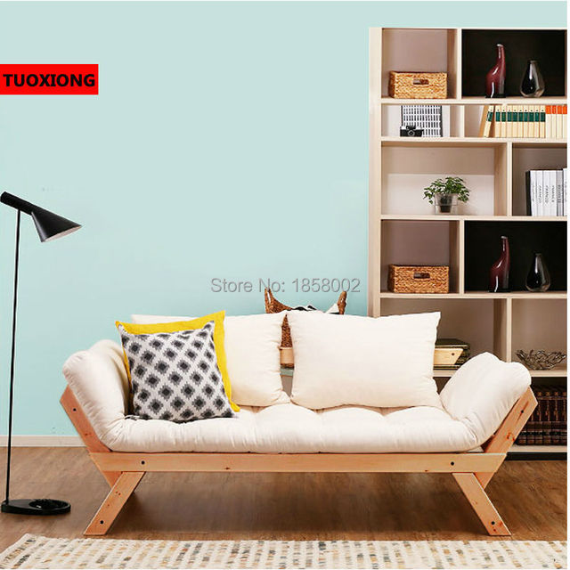 foldable wooden sofa set futon bed for sale balcony leisure sofas folding solo solid wood recliner leather living room furniture
