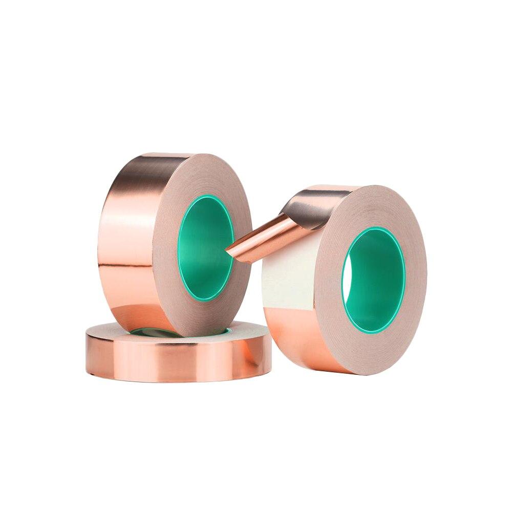 20 M CSD Double Conductive Copper Foil Tape Adhesive Pure Copper Conductive Tape Shielding Tape 3MM 5MM 8MM  12MM 18MM