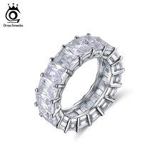 ORSA JEWELS anillos zirconias cúbicas austríacas AAA 0,7mm brillantes una hilera 17 piezas de lujo banda color plateado fashion para mujer OR146