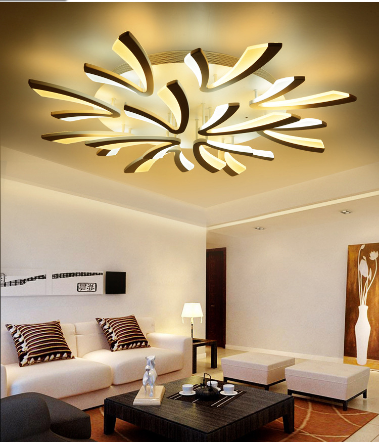 Luxury flush mount ceiling light Acrylic decorative lampshade ceiling lamp bedroom living room ceiling light lamparas de techo modern led acrylic flush mount ceiling lamp living room bedroom lighting lamparas de techo study room lamps free shipping
