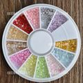Hot Item Colorful Pink Red Pearl Nail Art Stone Mix Color 2mm Size Wheel Nail Art DIY Beads #30