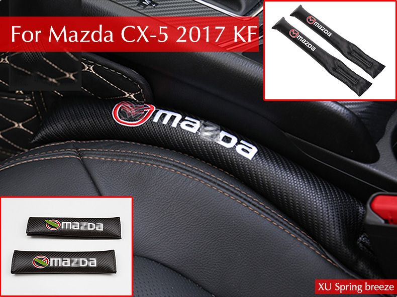 Car Seat Slot Cushion Crevice Gap Stopper Leak Proof Protector Cover Pad For Mazda CX-5 CX5 2017 2018 KF Car Styling for mazda cx 5 cx5 2017 2018 kf 2nd gen car co pilot copilot stroage glove box handle frame cover stickers car styling