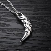 1 pcs Fashion Stainless Steel with Blue Crystal Wolf Tooth Pendant Necklace for Men Jewelry Gift Hot sale(China)
