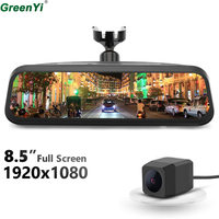 GreenYi 1080P Dual Lens 8.5 Steaming Rearview Mirror Monitor DVR Digital Video Recorder OEM Bracket And MCCD Rear View Camera