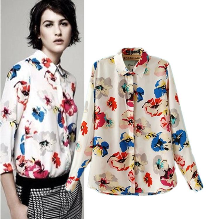 Otoño moda mujer blusas la nueva camiseta estampado de