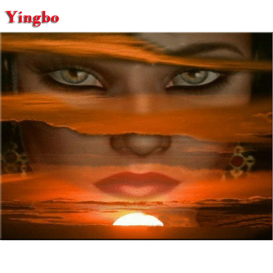 DIY Diamond Painting Abstract sunrise beauty 5D Diamond Embroidery Icon 3d full square round Cross Stitch Home Decoration Gift 副本