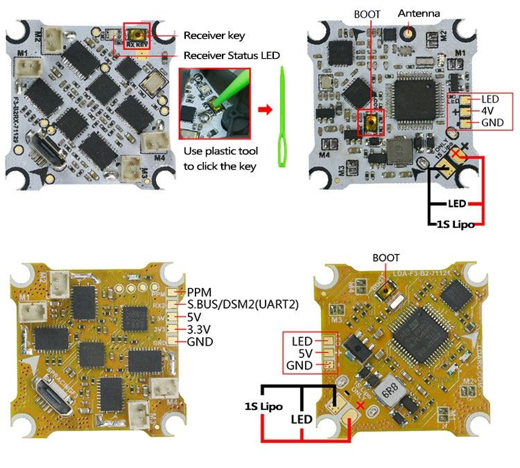 KINGKONG LDARC F3-B2 F3 Spazzola di Controllo di Volo e F3-B2RX Dual-mode di Sostegno della Ricevente di Vibrazione Sopra Dopo Il Crash FAI DA TE Piccolo 7R Mini DroneKINGKONG LDARC F3-B2 F3 Spazzola di Controllo di Volo e F3-B2RX Dual-mode di Sostegno della Ricevente di Vibrazione Sopra Dopo Il Crash FAI DA TE Piccolo 7R Mini Drone