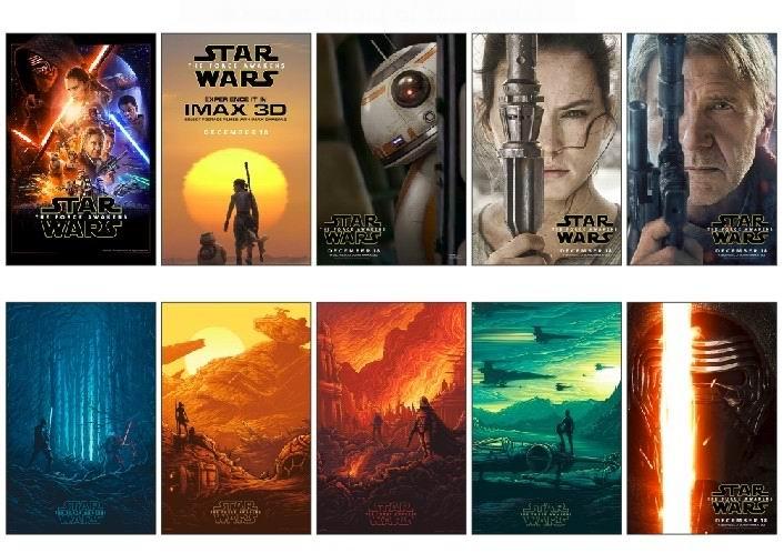 100% Kwaliteit 10 Stks/partij Star Wars: De Force Wekt Movie Poster Auto Bike Laptop Card Sticker Diy Decoratie Zelfklevende Stickers 1402 Reputatie Eerst