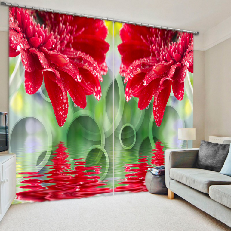 Beautiful Concept Flower Bedroom Living Room Kitchen Home Textile Luxury 3D Window Curtains Gift For FamilyBeautiful Concept Flower Bedroom Living Room Kitchen Home Textile Luxury 3D Window Curtains Gift For Family