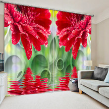 Beautiful Concept Flower Bedroom Living Room Kitchen Home Textile Luxury 3D Window Curtains Gift For Family(China)