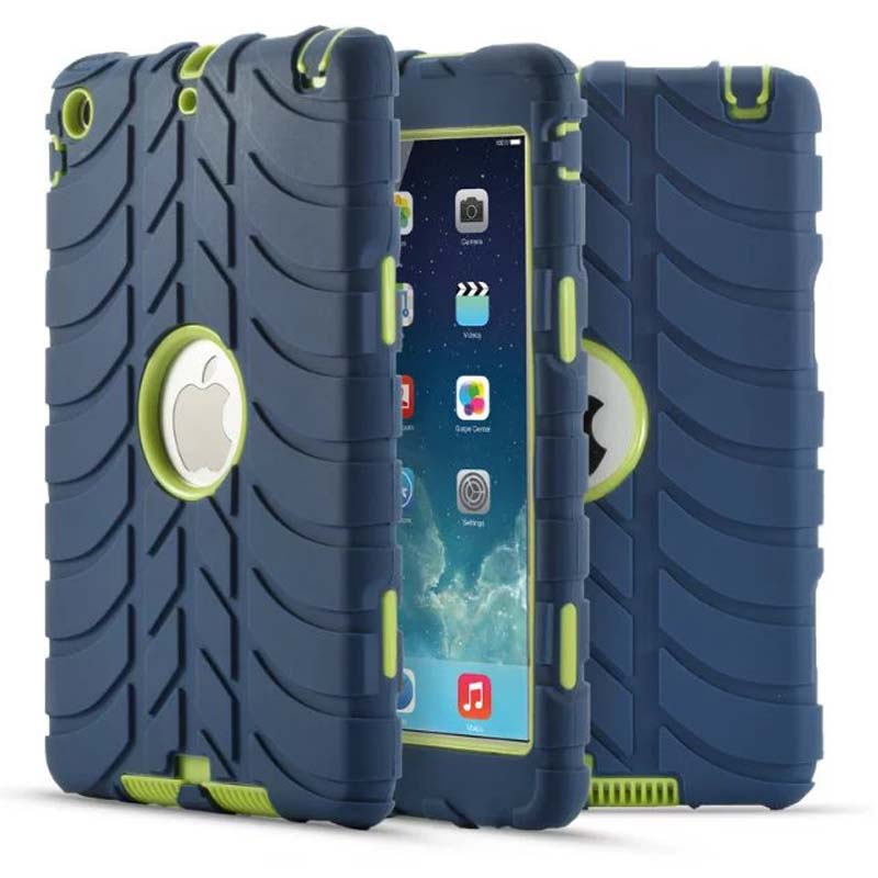child shockproof case For iPad mini mini 2 mini 3 Protective Cover Silicone Thick Armor Hybrid Rugged Shock tablet case+Stylus newest fashion 3in1 hybrid plastic silicone anti shock dual color tough armor back cover case for apple ipad 2 3 4 tablet