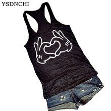 YSDNCHI 2019 New Harajuku Love Hand Printed Women