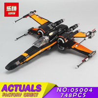 Poe's X wing Fighter Building Blocks LEPIN 05004 748Pcs Star Bricks Wars Model First Order Compatible Toys for Children Gift