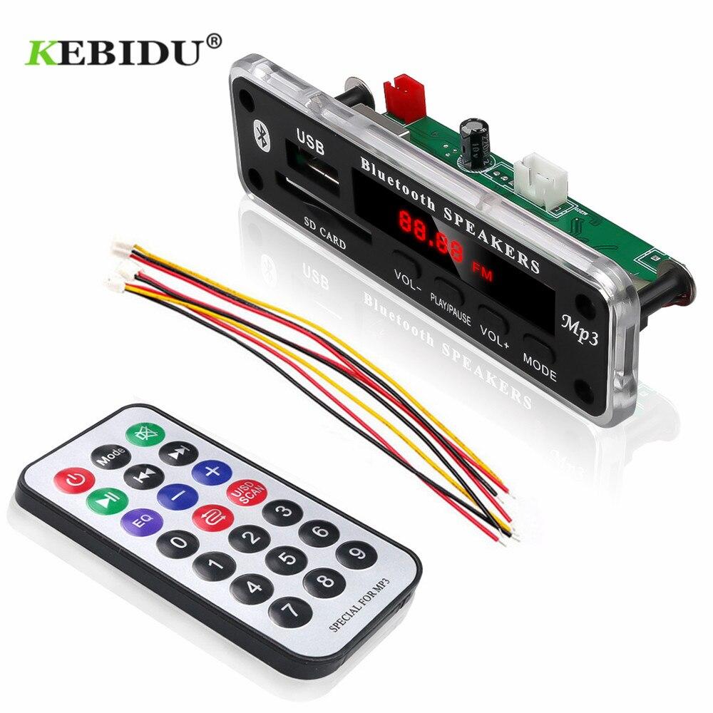 New One 5V//12V Remote USB SD FM MP3 Player Module Remote Control Silver