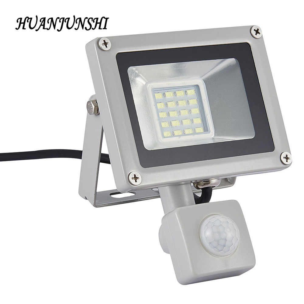 Outdoor Lighting LED Flood Light Led Spotlight Led Reflector 20W Flood Lamps Floodlight With PIR Motion Sensor AC 220V-240V