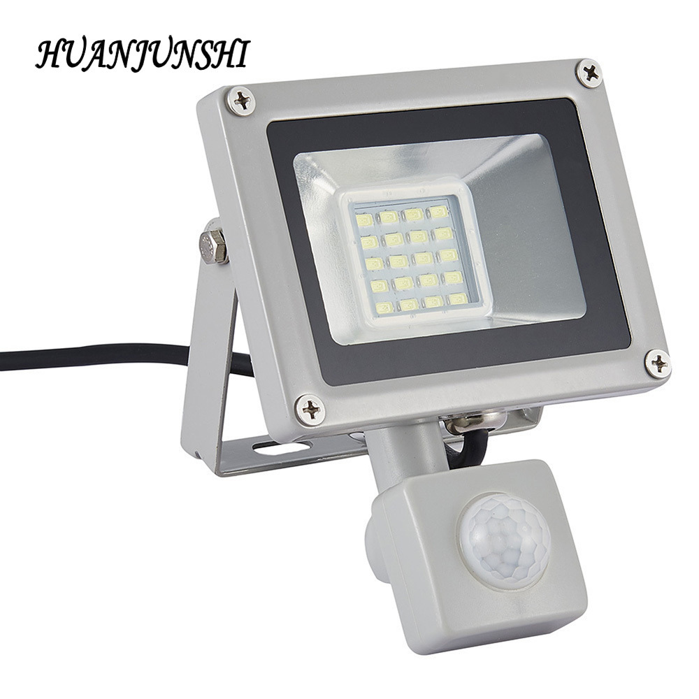 Iluminación al aire libre Luz de Inundación del LED Led Proyector Led Reflector 20 W Lámparas de Inundación Del Reflector Con Sensor de Movimiento PIR AC 220 V-240 V