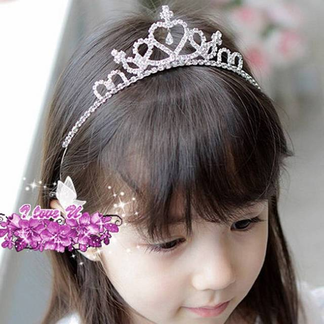1pcs Baby Girls Woman Princess Hairband Child Party Bridal Crown Headband Crystal Diamond Tiara Hair Hoop Hair bands Accessories