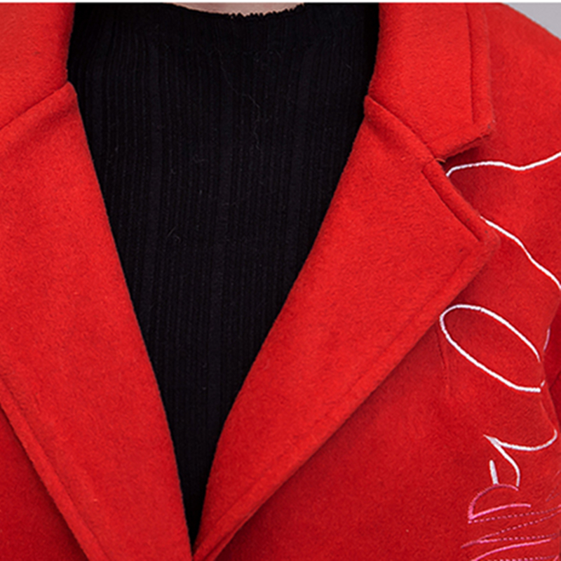 Bande Hiver Casual Mode Qualité Fit Survêtement Dessinée Automne Haute Manteaux Veste Fy145 De Slim Femmes 2017 Laine Femelle Broderie Sw7qAxR