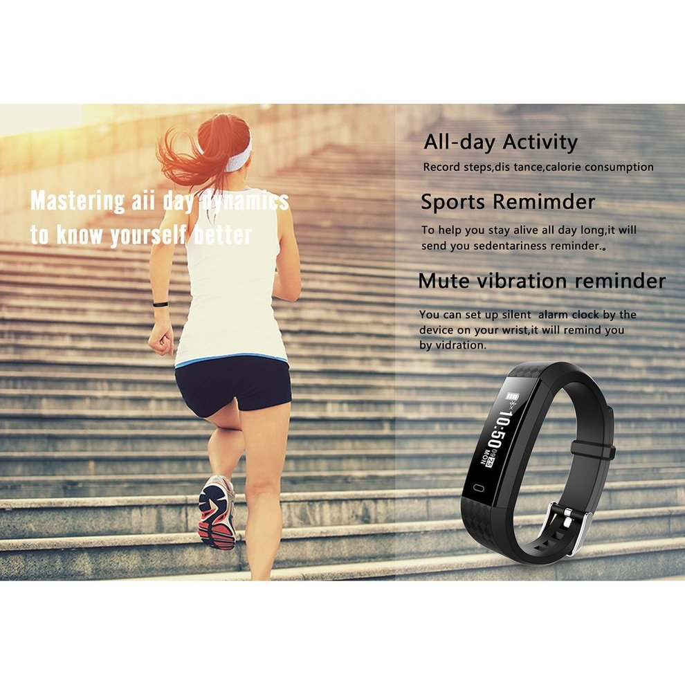 5PCS Smart Band Smart Watch Tracker Smart Bracelet Screen Pedometer Sleep Monitor Waterproof Sports Smart Wristband
