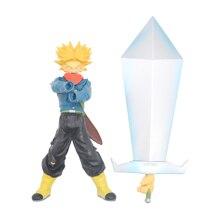 Dragon Ball Z Super Saiyan Trunks with Big Sword Final Hope Slash PVC Action Figure Collection Model Toy 21cm