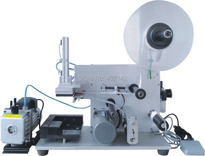 New design one side flat labeling machine, automatic labeling machine, label sticking machine