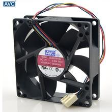 Для AVC 8025 80 мм x 80 мм x 25 мм DL08025R12U гидравлический подшипник ШИМ кулер вентилятор охлаждения 12 В 0.50A 4 провода 4-контактный разъем