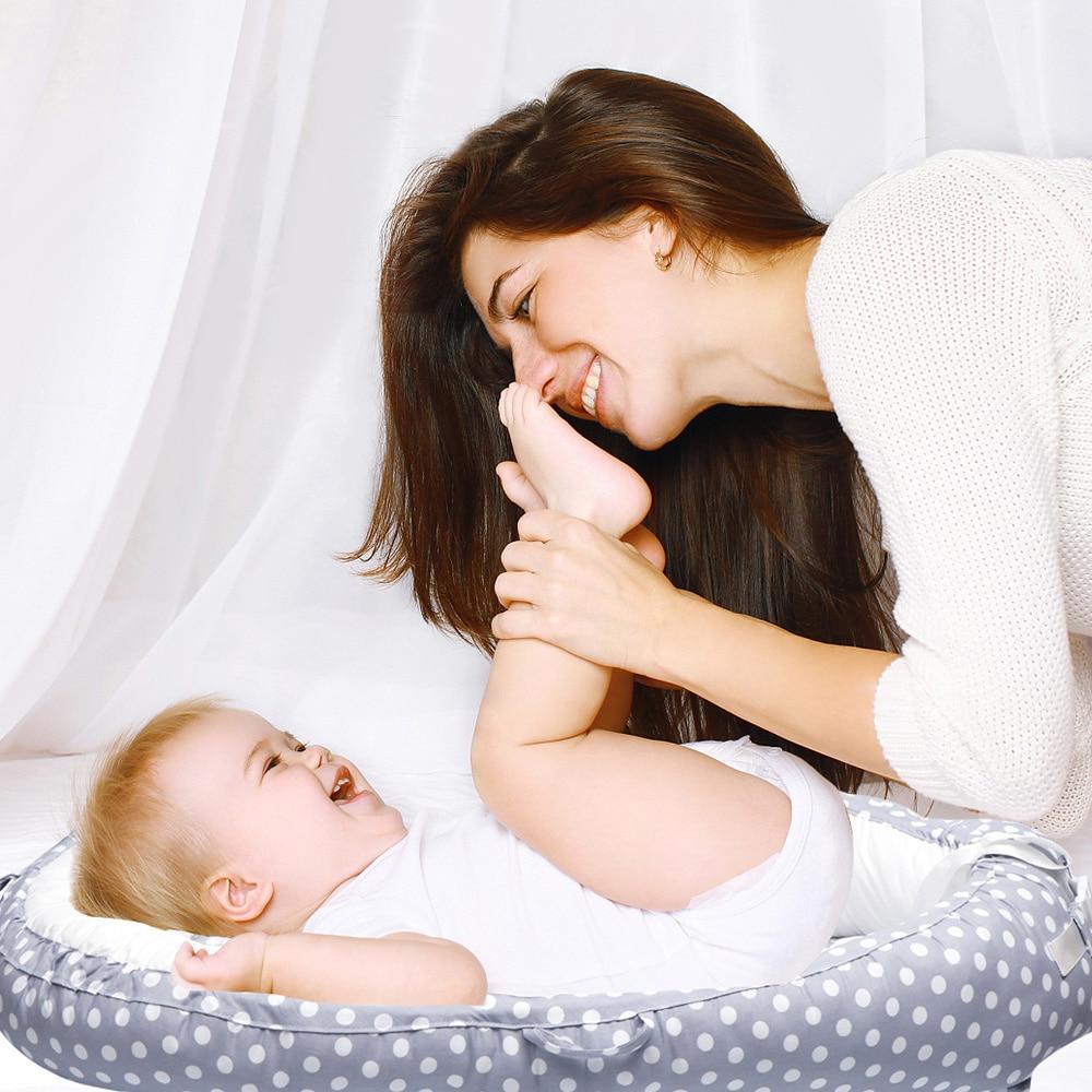 Chaise longue bébé nouveau-né couffin réversible infantile Portable nid douillet lit pour supporter sale
