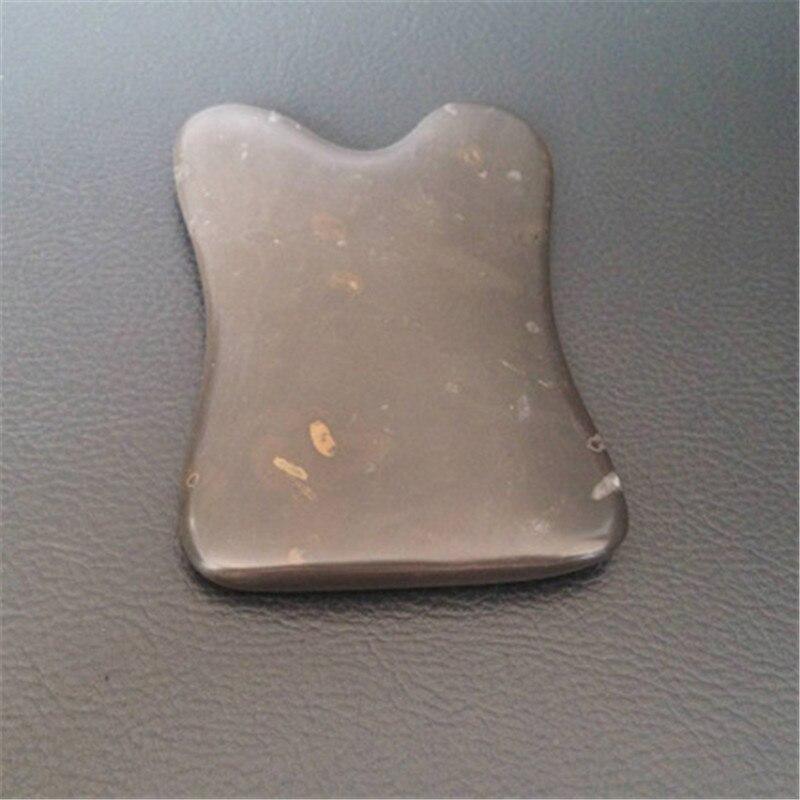 1 Pcs natural U type bian stone guasha board massage tool facial treatment scraping tool for body health care