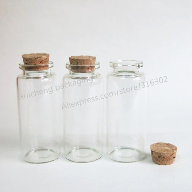 50 X 30ml Glass Container With Wood Cork 1oz Decoration Glass Vials