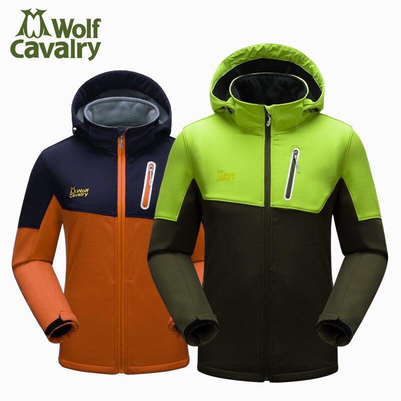 屋外男性と女性ハイキング服フリースハイキングジャケット春秋冬ウインドブレーカー防水ジャケット  グループ上の スポーツ & エンターテイメント からの ハイキング ジャケット の中 1