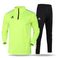 Soccre Training Clothes Spring Autumn Long Sleeve Running Sportswear Athletic Football Warm Up Jersey Pants Custom